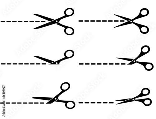 Carta da parati scissors with cut lines