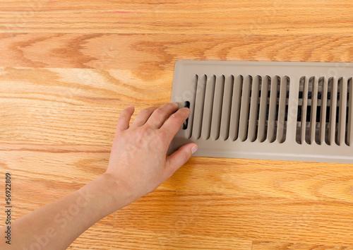 Wallpaper Mural Opening up Floor Vent Heater