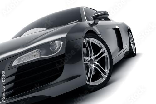 Fototapeta premium Czarny samochód sportowy