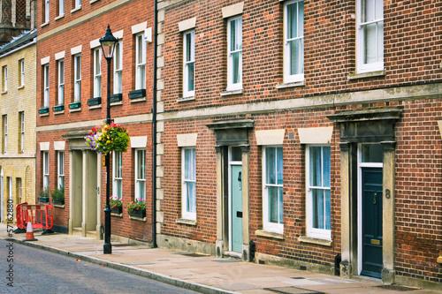 Canvas Print English town houses