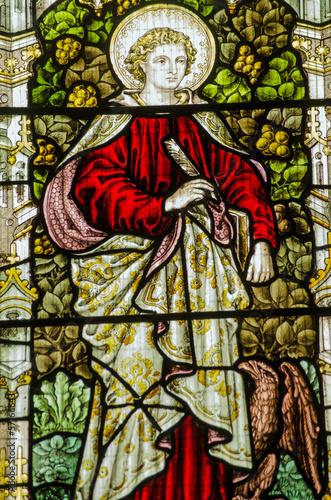 Tablou Canvas Saint John stained glass window