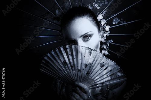 Obraz na płótnie Geisha
