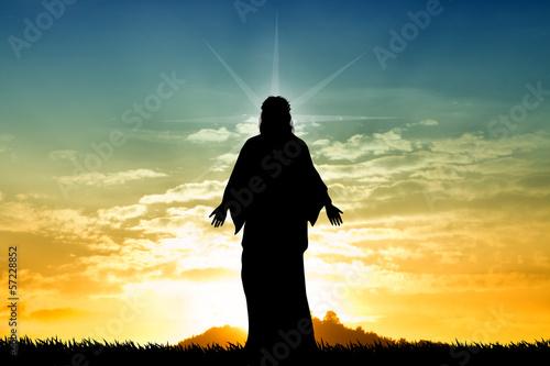 Fototapeta Jesus st sunset