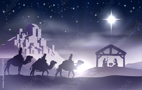 Nativity Christmas Scene #57256876