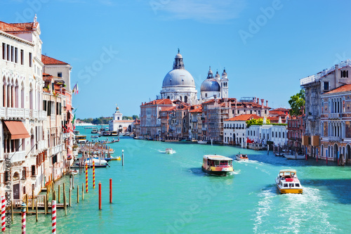 Slika na platnu Venice, Italy. Grand Canal and Basilica Santa Maria della Salute