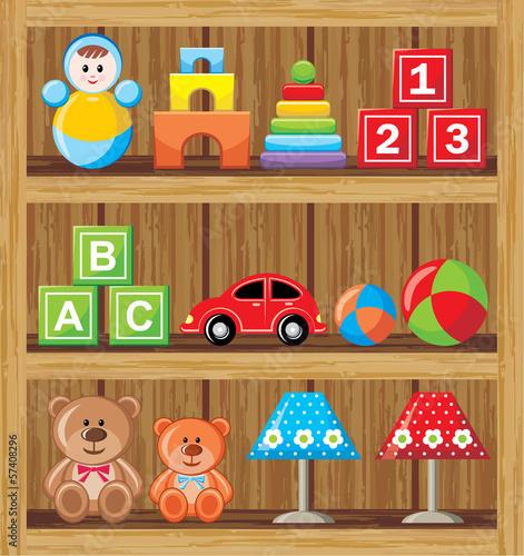 Shelfs with toys #57408296
