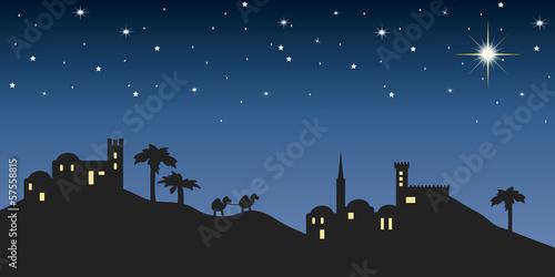 Hintergrund Nacht Bethlehem Fototapete