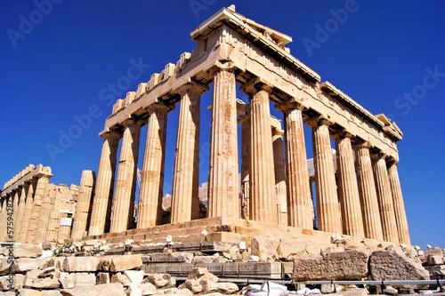 The ancient Parthenon, the Acropolis, Athens, Greece