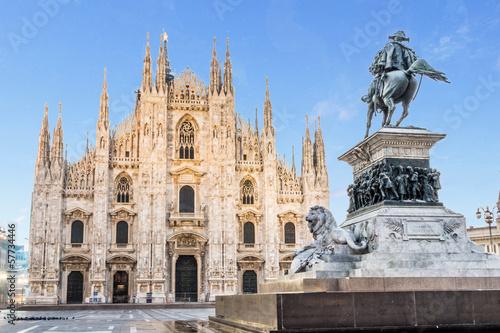 Obraz na plátně Milan cathedral Dome,Italy