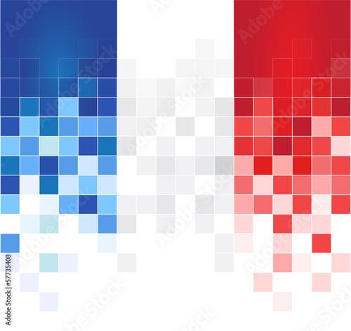 Francia bandiera Fototapeta