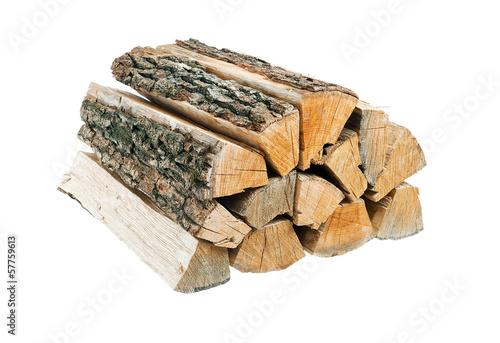 Fotografia, Obraz Bundle of firewood. Isolated.