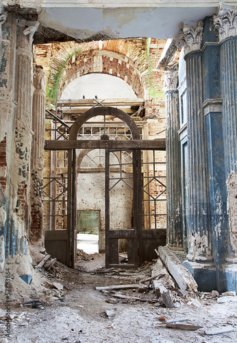 Fotomural Abandoned Medieval Church