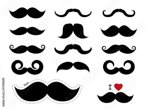 Fotografia Moustache / mustache icons - Movember