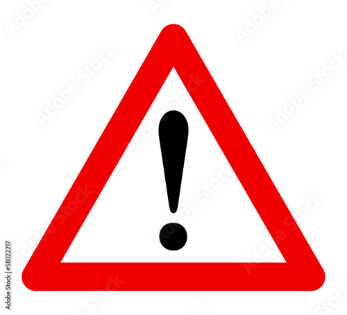 Fototapeta Triangle warning sign