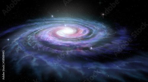 Fotografia Spiral Galaxy Milky Way