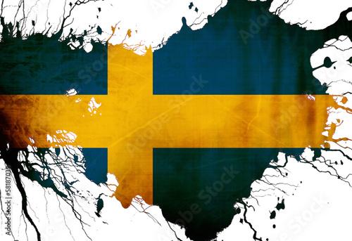 Wallpaper Mural Swedish flag