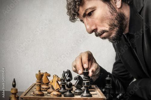 Fotografie, Obraz šachista