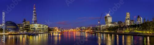 Obraz na płótnie Panorama Londynu w Nocy