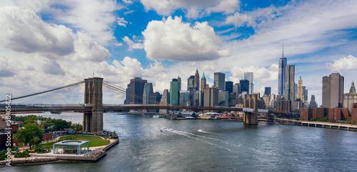 Fototapeta Nowy Jork i Most Brookliński z lotu ptaka na wymiar