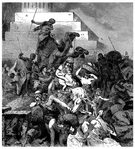 Babel Tower falling - Tour de Babel s'écroûlant Tapéta, Fotótapéta