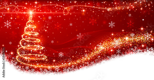 Canvas Print Christmas tree