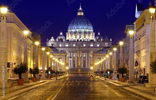 Fotografia, Obraz St. Peter, Via della Conciliazione, Rome