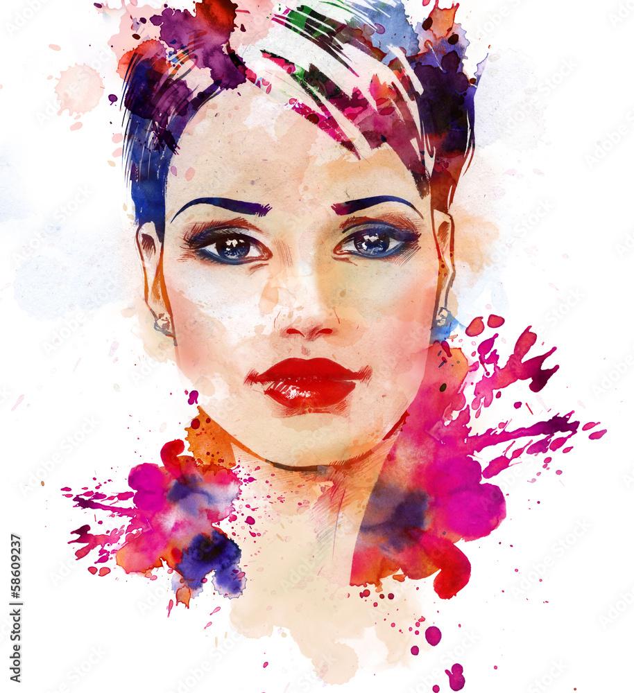Ilustracja moda piękna dziewczyna <span>plik: #58609237 | autor: vikidi</span>