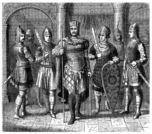 Obraz na płótnie Medieval Byzantine Emperor - 11th century