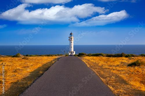 Canvas Print Barbaria cape Lighthouse in Formentera Balearic islands