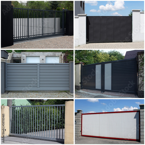 Cuadros en Lienzo collection of metal, modern gate
