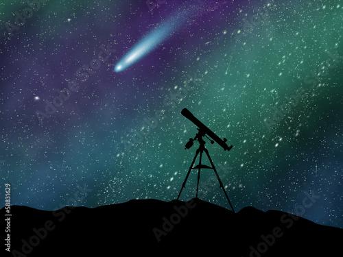 Canvastavla Neowise comet observation