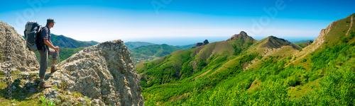 Hiker enjoys landscape #58880837