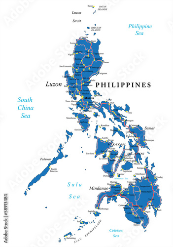 Photo Philippines political map