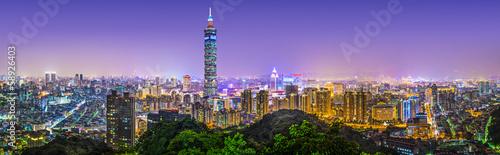 Fototapeta premium Tajpej, Tajwan Panorama