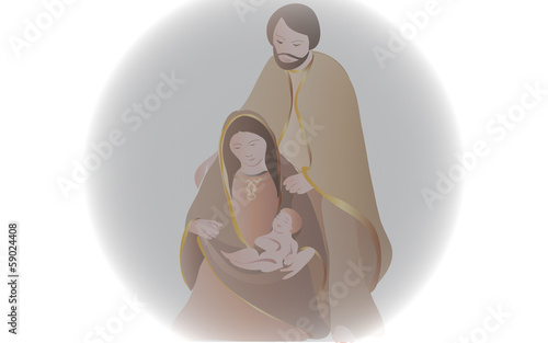 Canvas Print Holy Family