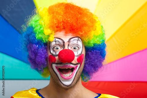 Smiling clown Fototapeta