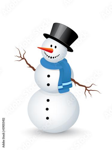 Wallpaper Mural Snowman