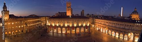 Fotografie, Obraz view of piazza maggiore - bologna