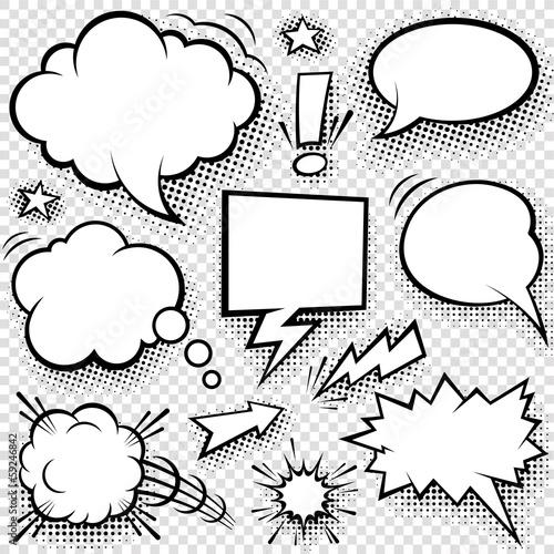 Comic bubbles and elements #59246842