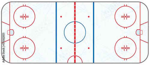 Photo Vector Ice Hockey Rink With Skate Marks