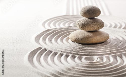 Canvas Print concept of zen silence