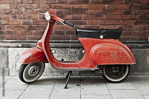 Canvas Print Vespa Motorroller Kult
