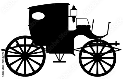 Photo Old Carriage Silhouette