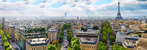 View of Paris from the Arc de Triomphe.  .Paris. France. #59642028