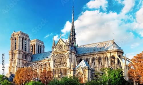 Fotografia Notre Dame de Paris Cathedral.Paris. France.