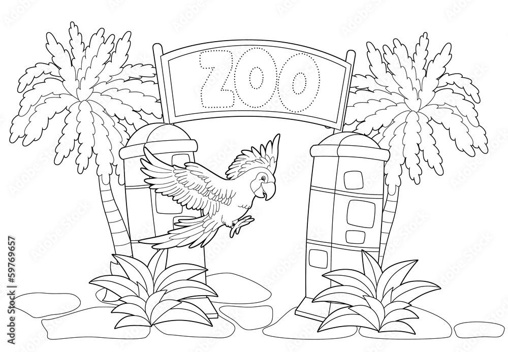 Kolorowanki - zoo - ilustracja dla dzieci <span>plik: #59769657 | autor: agaes8080</span>