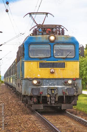 Fototapeta premium pociąg w Balatonlelle, hrabstwo Somogy, Węgry