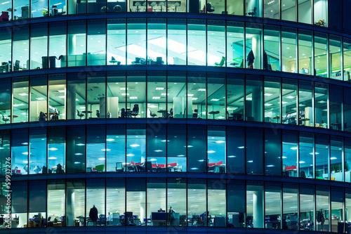 Fototapeta premium Skyscraper Windows w Londynie