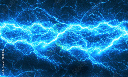 Tablou Canvas Blue abstract lightning
