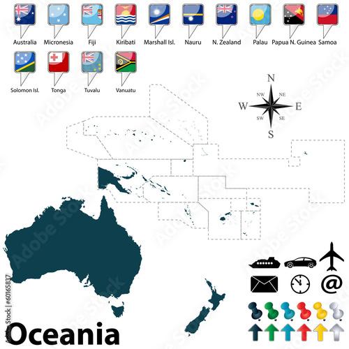 Wallpaper Mural Political map of Oceania